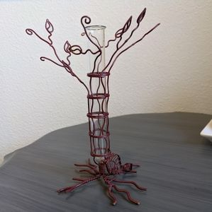 Wire and Glass Bud Vase